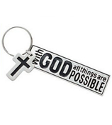 """All Things Are Possible with God"" Metal Keychain #36/2873"