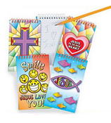1 Religious Spiral Notepad #36/2410-SHIPS ASSORTED