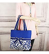 Royal Blue Ivy Damask Quilted Diaper Bag #RMKR2121-ROYAL