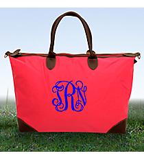 Hot Pink Large Tote Bag #ROL642-HPINK