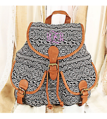 Black and White Aztec Backpack #RY812A-C61-BK