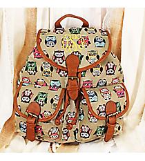 Wise Owls Khaki Backpack #RY-W081-B375-GY