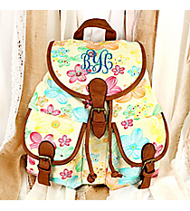 Pastel Petals Backpack #RY-W081-FH393-BG