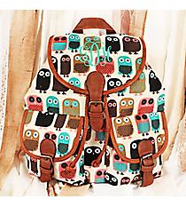 Gazing Owls Khaki Backpack #RY-W081-A133-BK