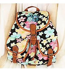 Pretty Petals Black Backpack #RY-W081-FH393-BK