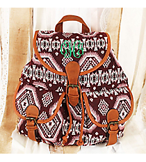 Spicy Southwest Burgundy Backpack #RY812-C23-RD-1