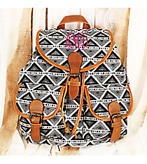 Trendy Triangles Backpack #RY-812A-C51-DK.GY