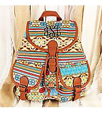 Bohemian Blossoms Backpack #RY-W081-A428-2-BG-1