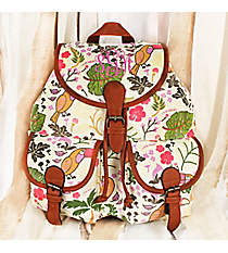 Toucan Tango Ivory Backpack #RYW081-B296-1-WH-1