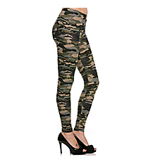 Camouflage Leggings #08R-P1079-S033-OLIVE *Choose Your Size