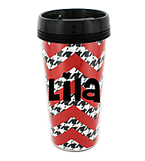 Chevron Travel Coffee Mug #S146 *Choose Your Color