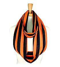 Black and Orange Striped Jersey Infinity Scarf #SC0058-BKOR