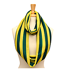 Green and Yellow Striped Jersey Infinity Scarf #SC0058-GRYE