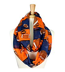 Navy Blue and Orange Football Field Infinity Scarf #SC0062-NV/OR