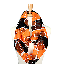 Orange and Black Football Field Infinity Scarf #SC0062-OR/BK