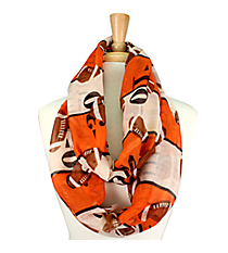 Orange and Ivory Football Field Infinity Scarf #SC0062-OR/IV