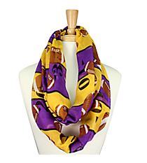 Purple and Gold Football Field Infinity Scarf #SC0062-PU/YE