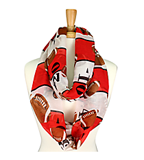 Red and White Football Field Infinity Scarf #SC0062-RDWT