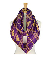 Purple and Gold Louisiana State Infinity Scarf #SC0064-PU/YE