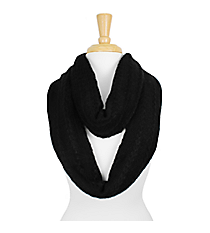 Black Knit Infinity Scarf #SC1285-BLACK