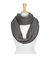 Grey Knit Infinity Scarf #SC1285-GREY