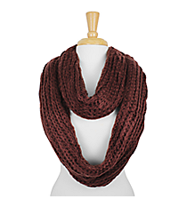 Brown Chunky Knit Infinity Scarf #SC1574-BROWN