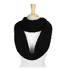 Black Knitted Infinity Scarf #SC1809-BLACK