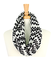Chevron Infinity Scarf #AS-223-BLK/WHT