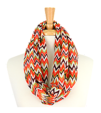 Chevron Infinity Scarf #AS-223-PNK/GRN