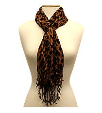 Leopard Fashion Scarf #SC1001-KHAKI