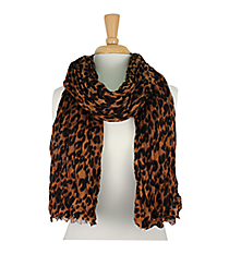 Leopard Scarf #SC1004-KHAKI