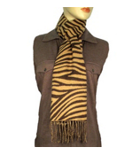 Brown Zebra Scarf #S023-BROWN