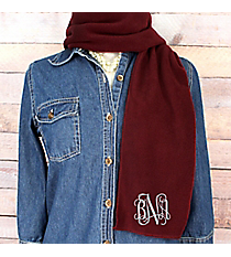 Burgundy Fleece Scarf #SCF1100-BUR