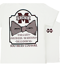 Southern Couture MSU Bowtie White T-Shirt *Choose Your Size