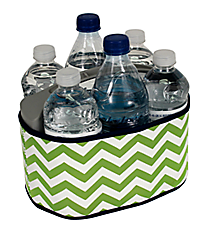 Lime and White Chevron with Navy Trim Cover and 6-Pack Cooler Set #SCVR-LMNV