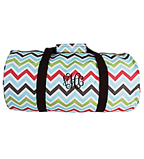 Multi-Color Chevron Roll Duffle Bag #SD-1323