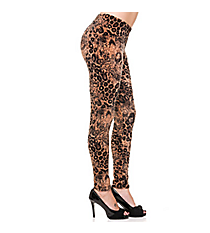 Go Wild Leopard Velour Ankle Leggings #USP-SF29-VELOUR
