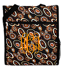 Brown Circles on Black Shopper Tote #ST13/SH13-2001