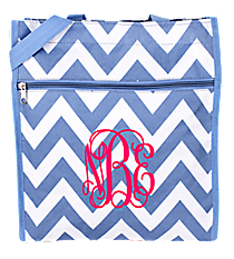 Denim Blue Chevron Shopper Tote #SH13-601-BL