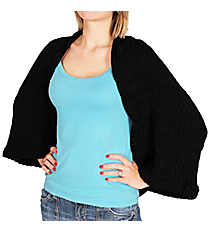 Black Knit Chevron Shrug # 35599