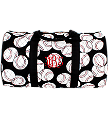 "21"" Baseball Quilted Duffle Bag #SKQ2626-BLACK"