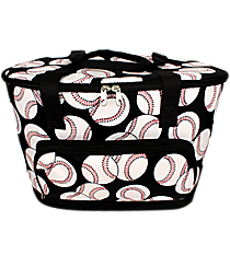 Baseball Cooler Tote with Lid #SKQ89-BLACK