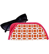 Orange and White Interlocking Circles with Pink Trim Sunglasses Sleeve #SLV-ORPK