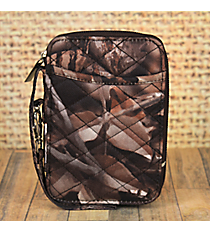 BNB Natural Camo Quilted Wristlet #SN495-BROWN