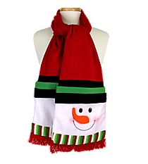 Snowman Red Fleece Scarf #81021-RED
