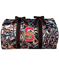 "21"" BNB Natural Camo Quilted Duffle Bag with Brown Trim #SNQ2626-BROWN"