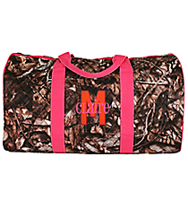 "21"" BNB Natural Camo Quilted Duffle Bag with Hot Pink Trim #SNQ2626-H/PINK"