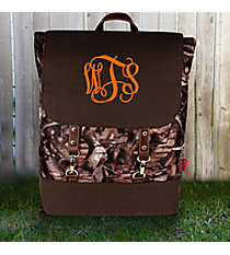 BNB Natural Camo Backpack with Brown Trim #SNQ650-BROWN