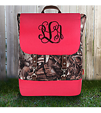 BNB Natural Camo Backpack with Hot Pink Trim #SNQ650-HPINK