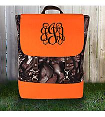 BNB Natural Camo Backpack with Orange Trim #SNQ650-ORANGE